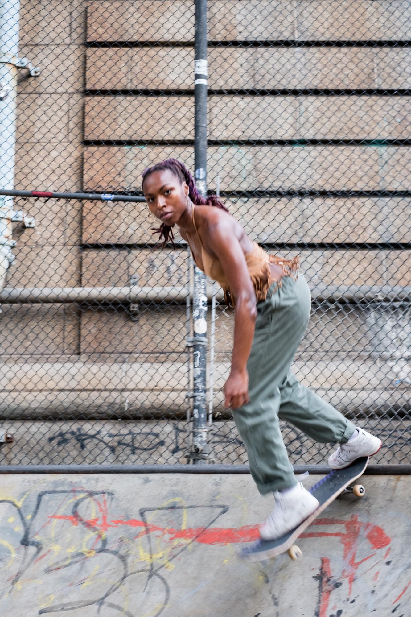 She Skates.   By  LANNA APISUKH