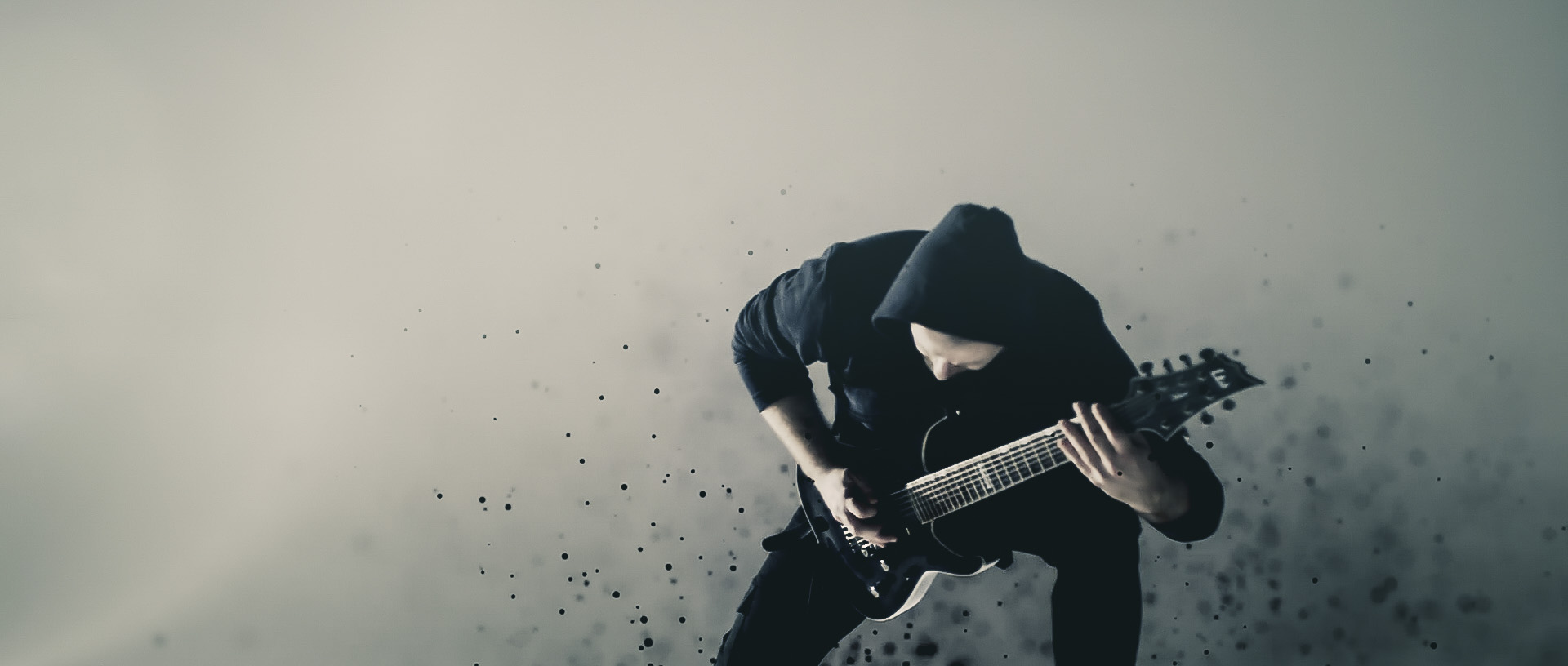 Metal Guitarist and particles