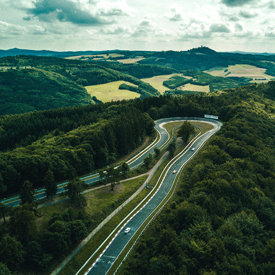"""the Green Hell - The Nürburgring was famously nicknamed as """"The Green Hell"""" by Sir Jackie Stewart after he won the 1968 German Grand Prix in a rainstorm and thick fog."""