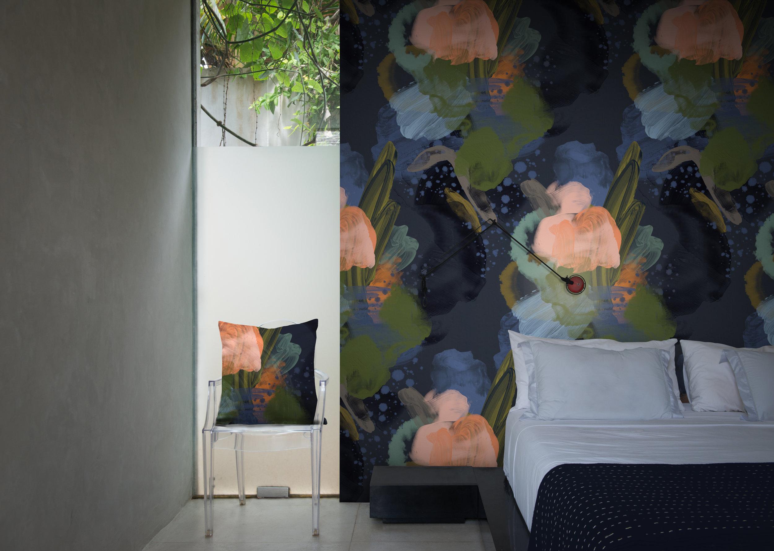 English Rose Wallpaper designed by Reeta Ek