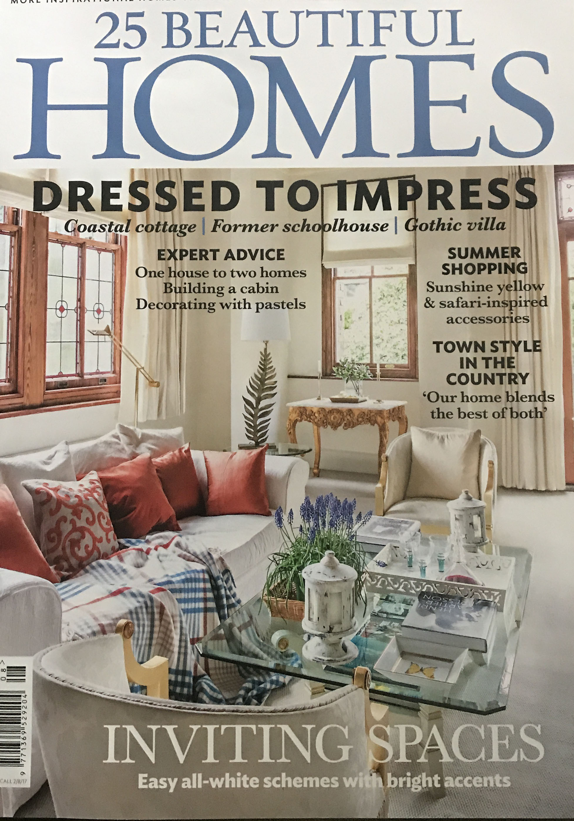 Find me in the August 2017 Edition of 25 Beautiful Homes -