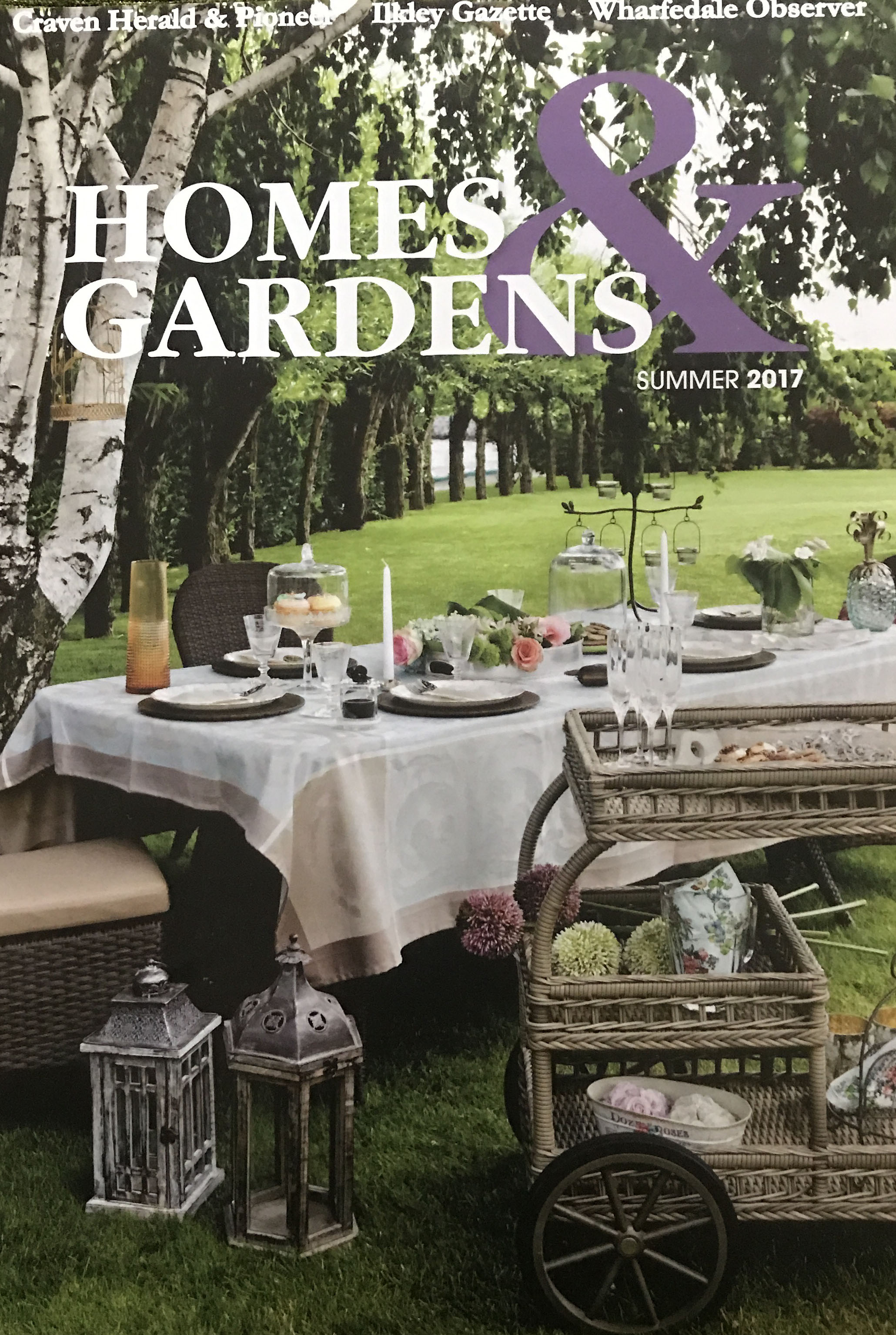 Find me in the Summer 2017 Edition of Homes and Gardens of Ilkley Gazette -