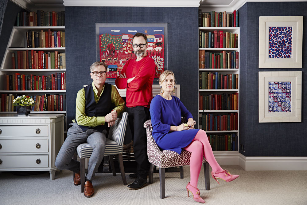 Sophie and the presenters of Great Interior Design Challenge
