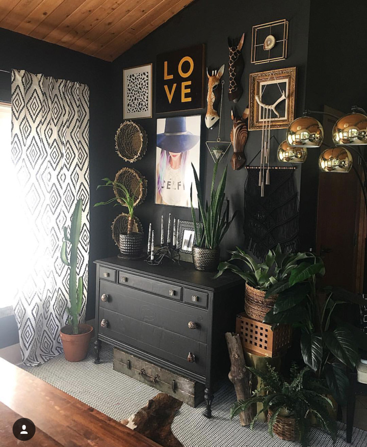 Dining room gallery wall from Jen  @blissfully_eclectic.