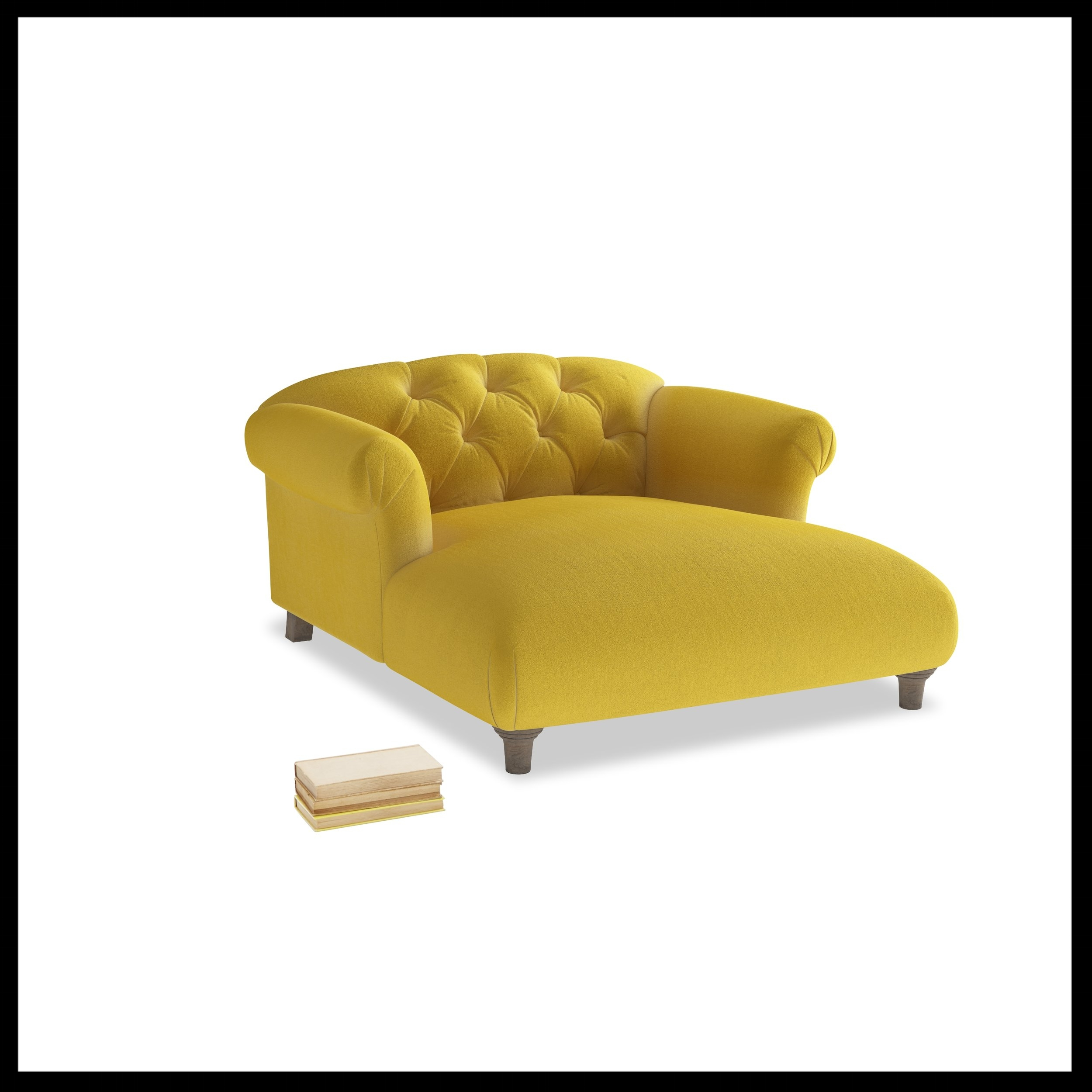 Loaf - Dixie love seat chaise in Bumblebee clever velvet from £1295 high-res.jpg