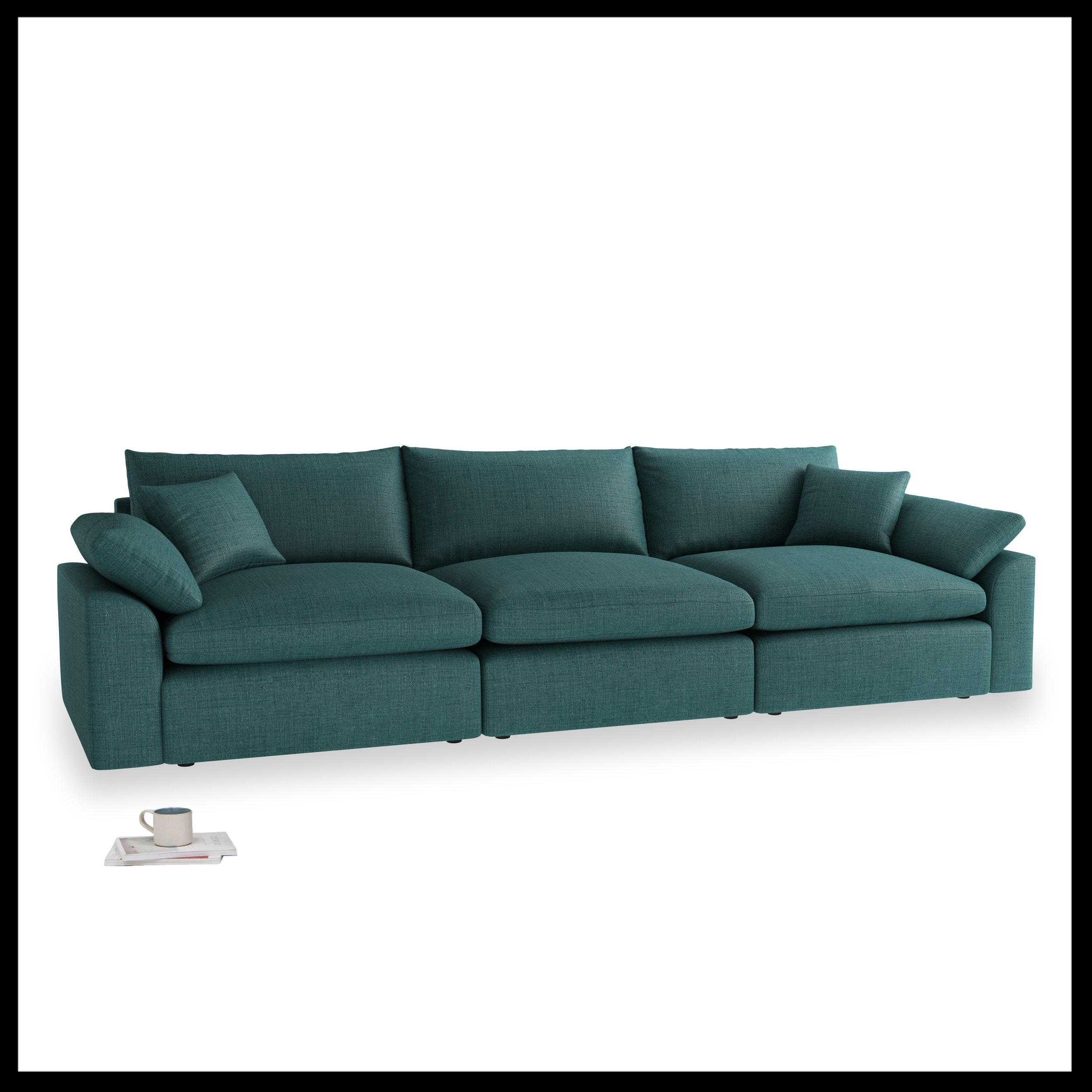 Loaf - NEW Cuddlemuffin modular sofa in Deep Sea classic linen, from £1990.jpg