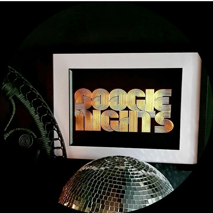 The 'Boogie Nights' print is an exclusive  @cowboykate_  design produced by Toodle & Pip and available in CowboyKate's webshop.