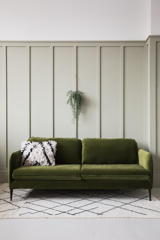 Broughton Velvet Sofa in Green