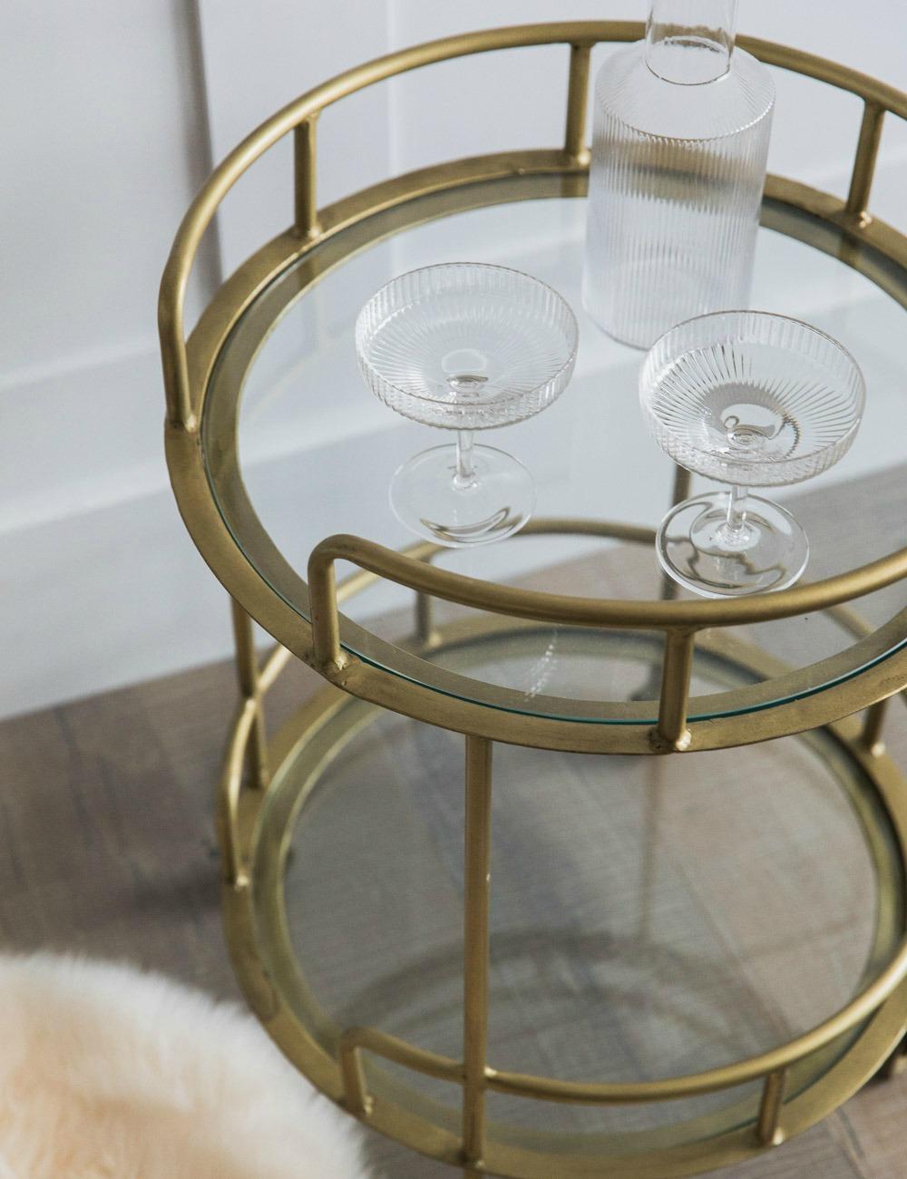 Flora Double Tier Brass & Glass Drinks Trolley 2 copy.jpg
