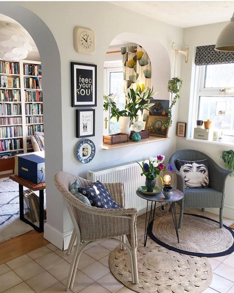 Kitchen through to reading area