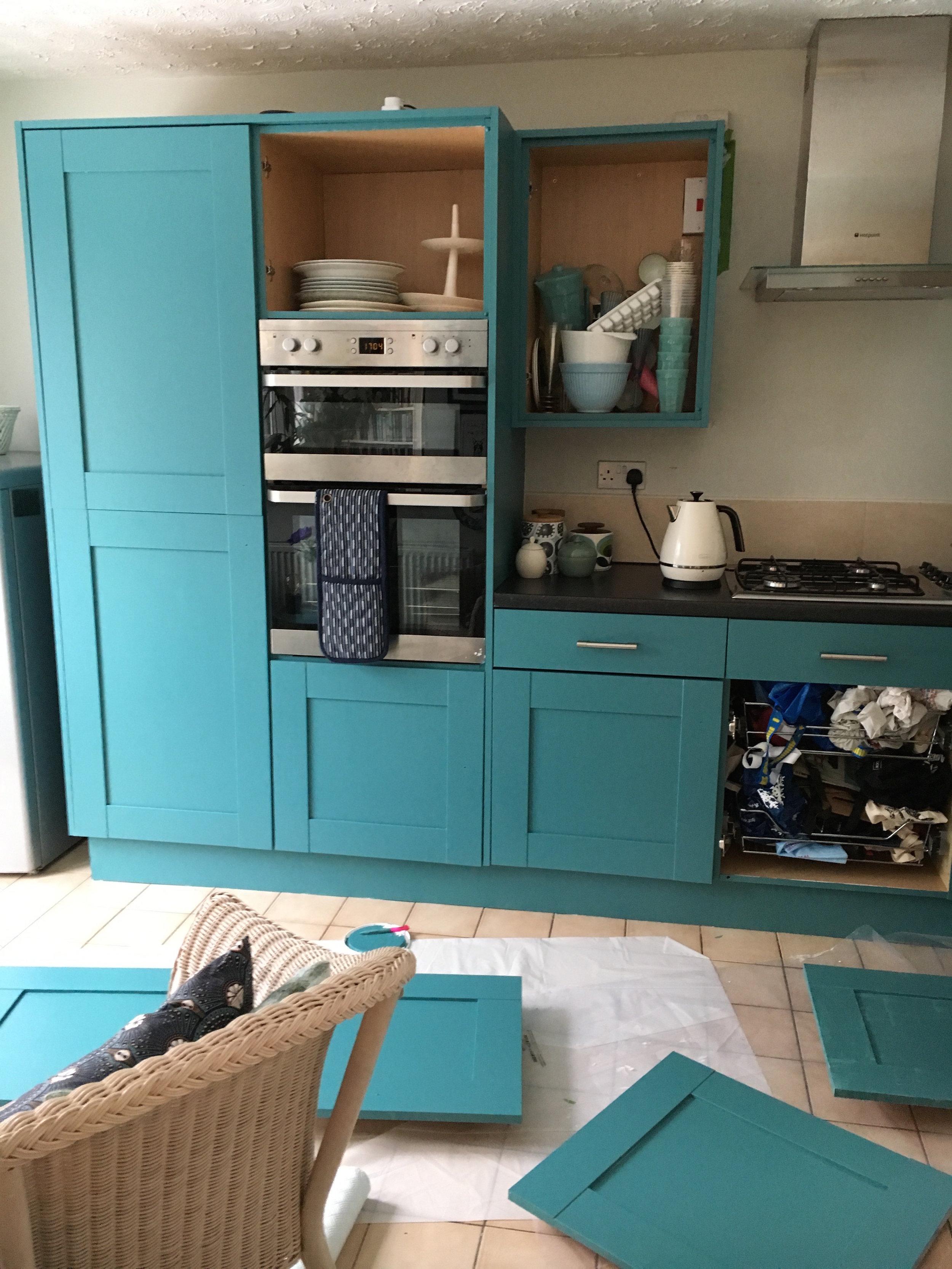 Progress shot of the kitchen!
