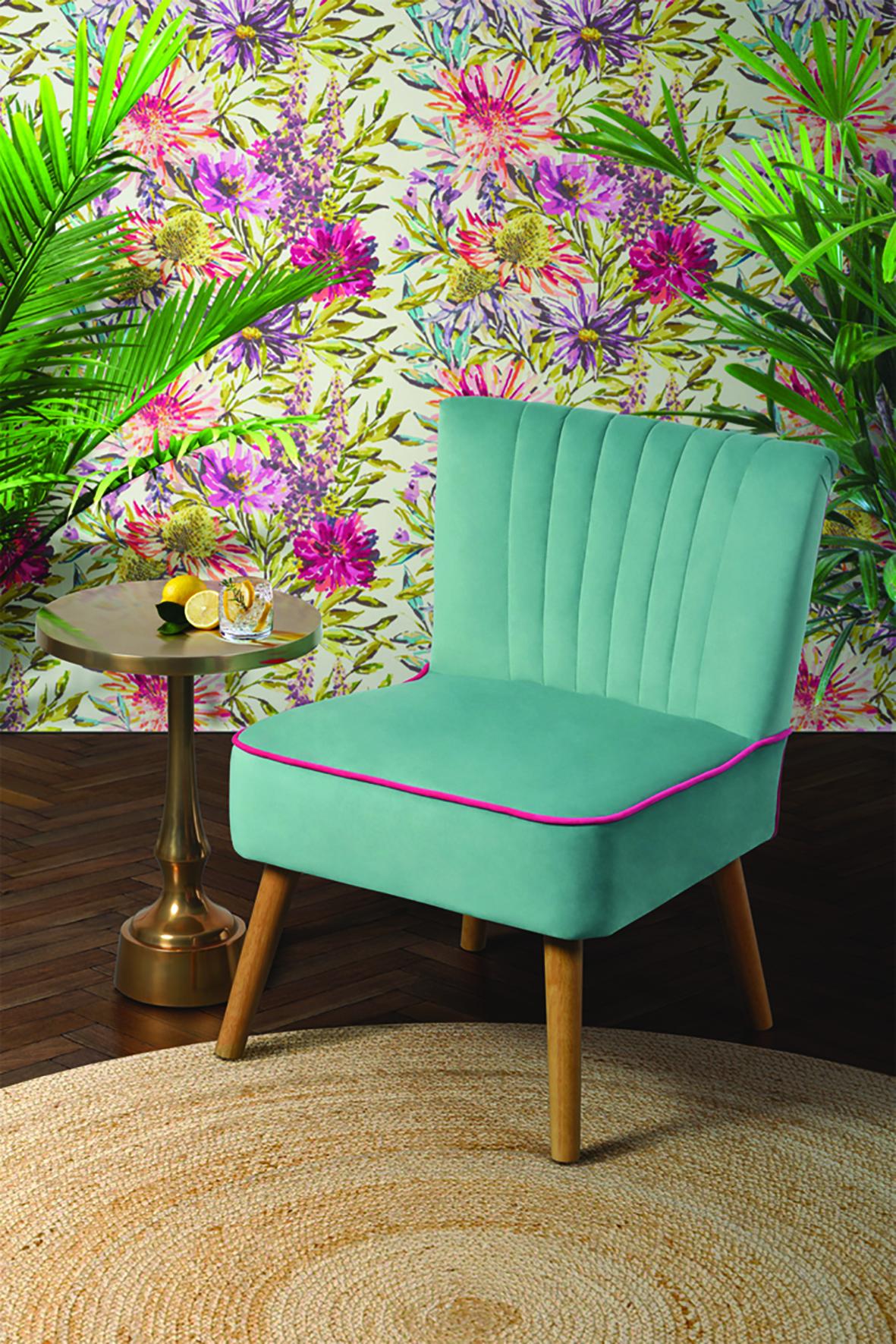 LOLA OYSTER AQUA Retro Chair - MY Furniture