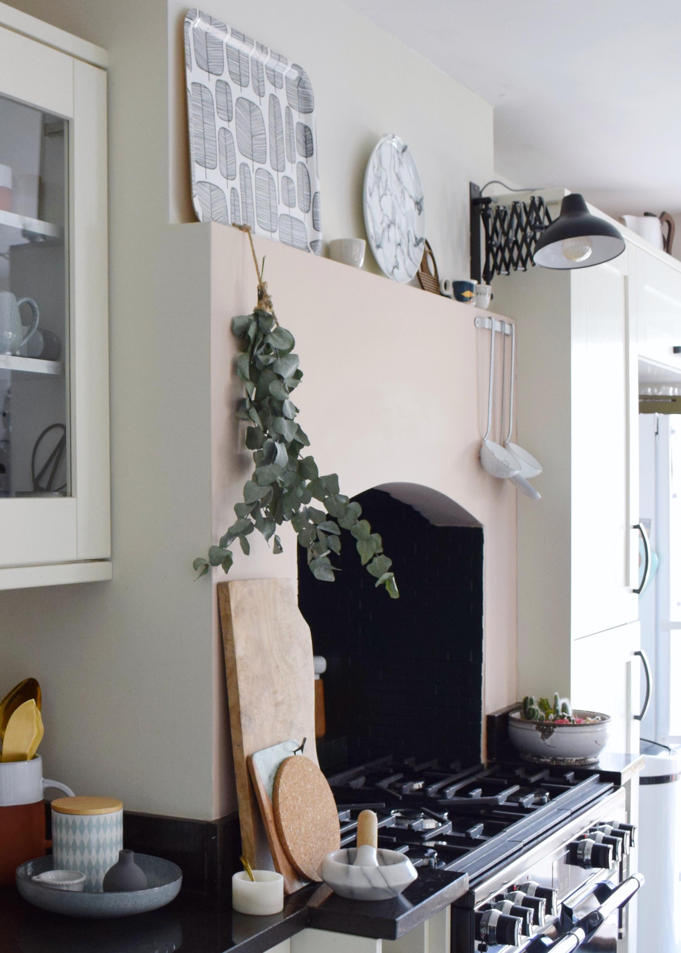 Kitchen Farrow ball slipper satin, vintage Scandinavian rustic budget kitchen refresh, artisan design and styling, eucalyptus (9) copy.jpg
