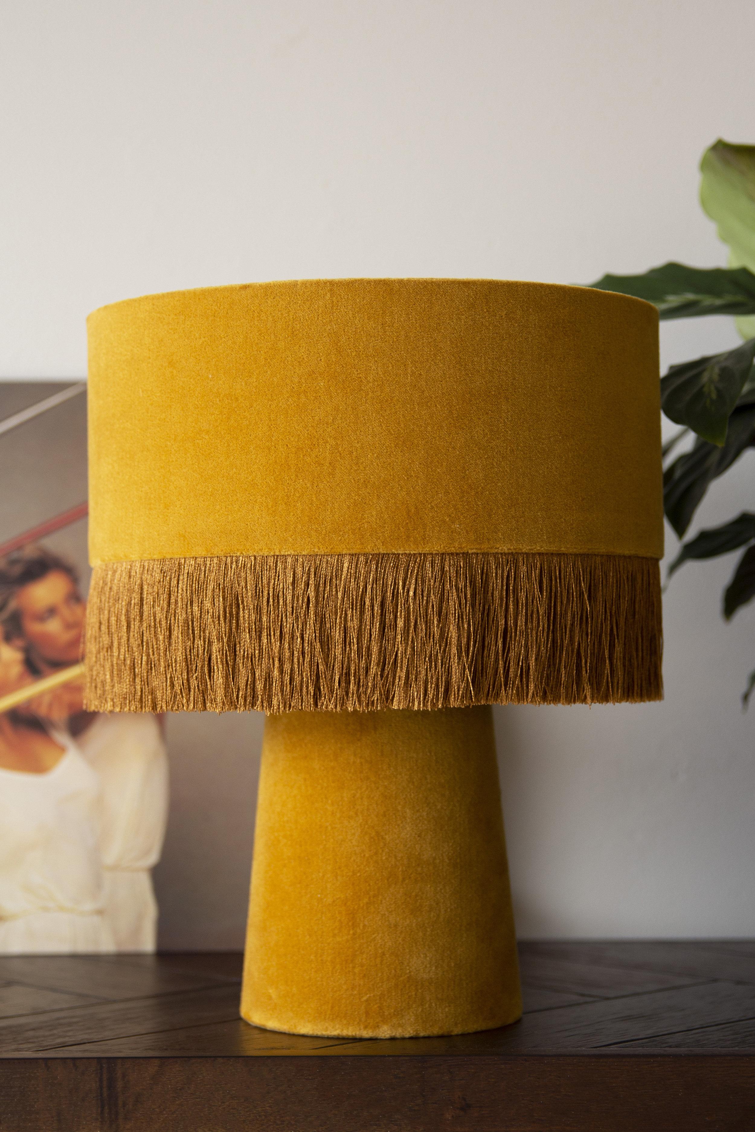rockettstgeorge_All Over Velvet Table Lamp With Fringe - Mustard_lifestyle_highres.jpg