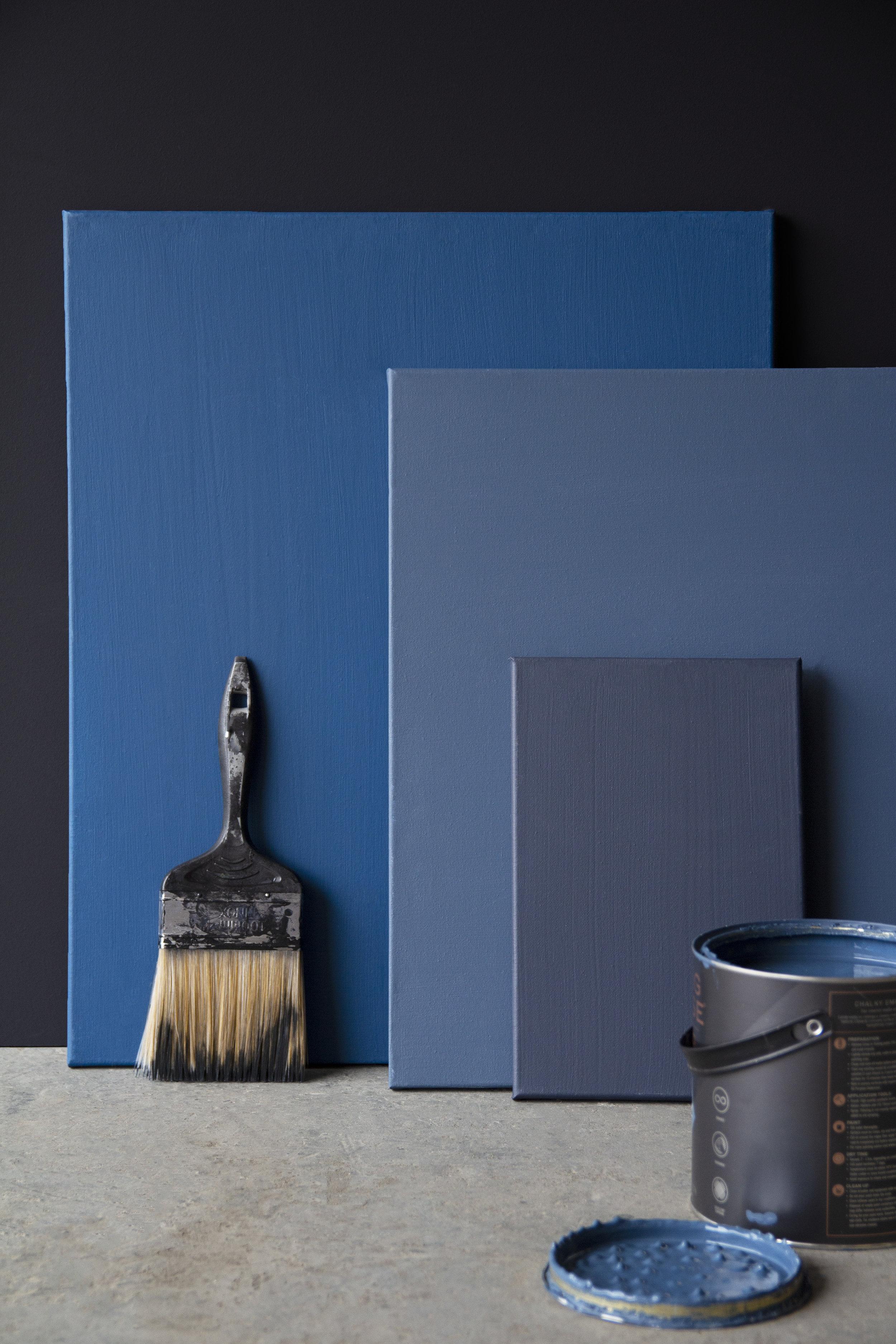 Azunte, Payne's Grey, Portobello colours from L to R above