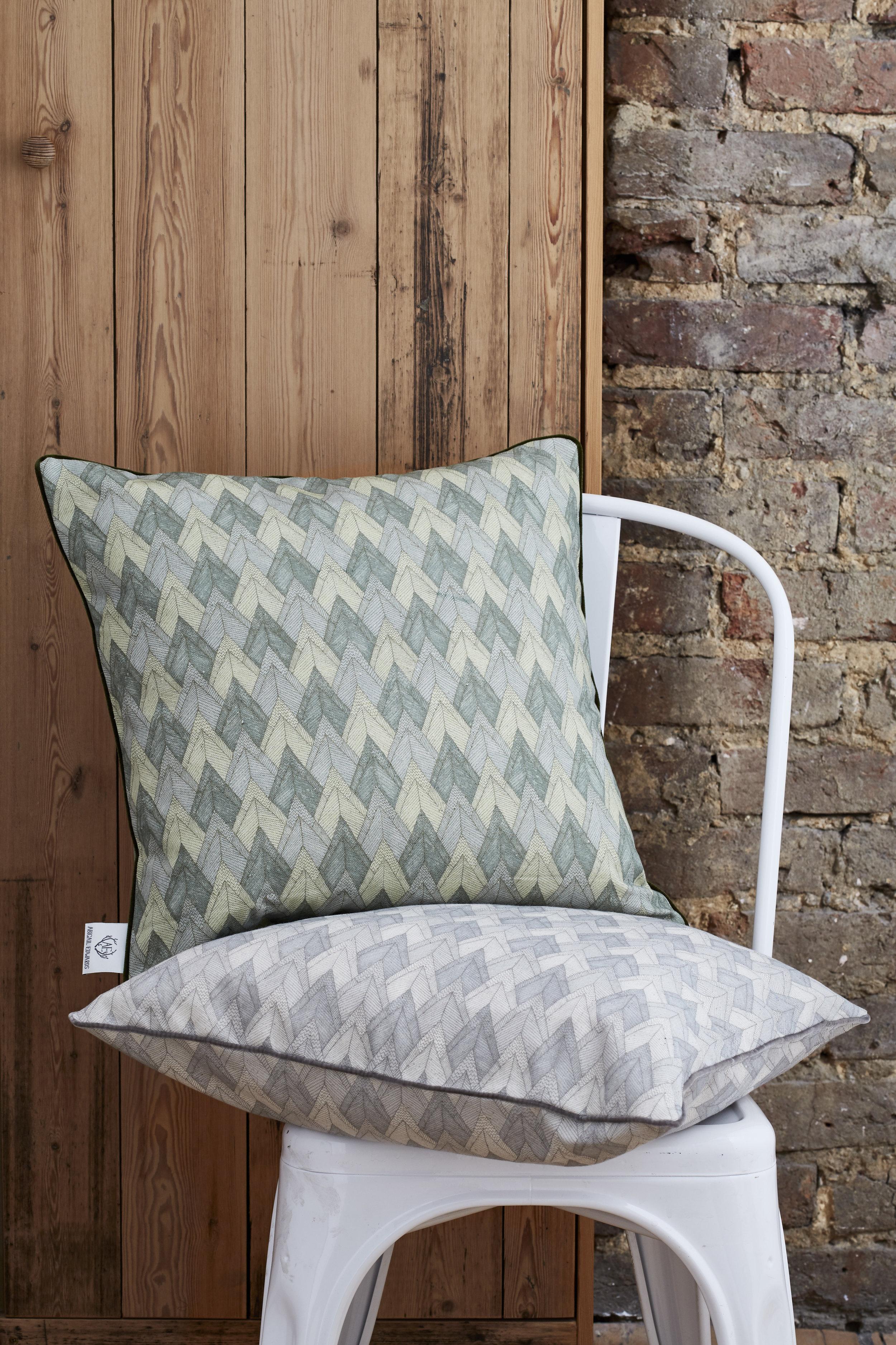 Abigail Edwards NEW Mountainous Cushion in Forest & Mountain, £95.jpg