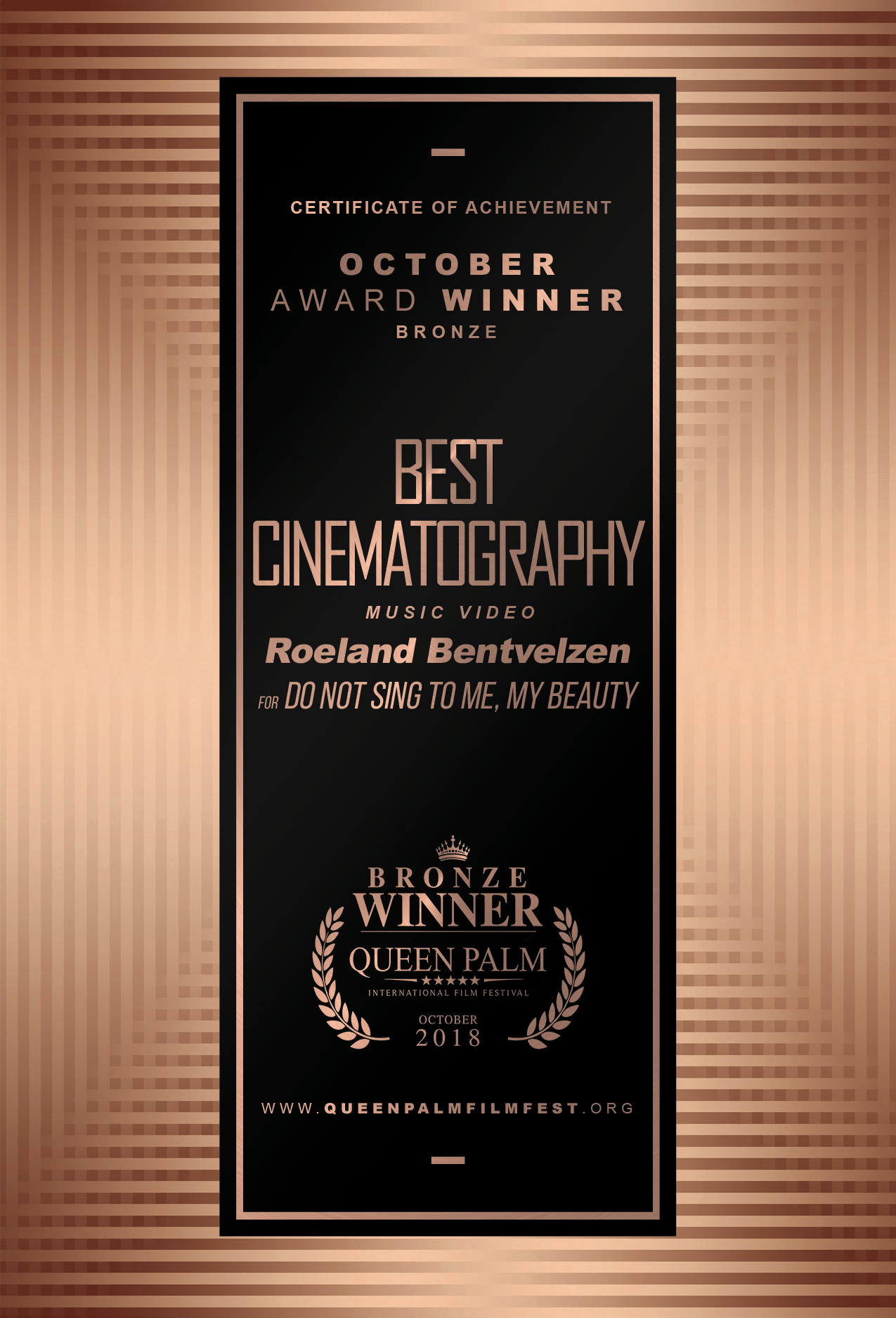 QPIFF BRONZE AWARD CERTIFICATE-BEST CINEMATOGRAPHY - MUSIC VIDEO-FRONT.png