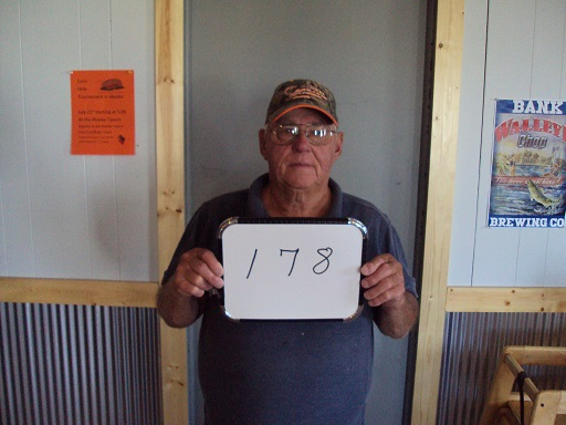 Wilton (Hooch) Schilling of Akaska, SD drew the winning number this Monday morning at the Akaska Tavern & Bait Shop. Hooch drew the number for Robert Trupe of Rapid City, SD. Bob wins a Savage Hog Hunter Rifle.  CONGRATULATIONS BOB!