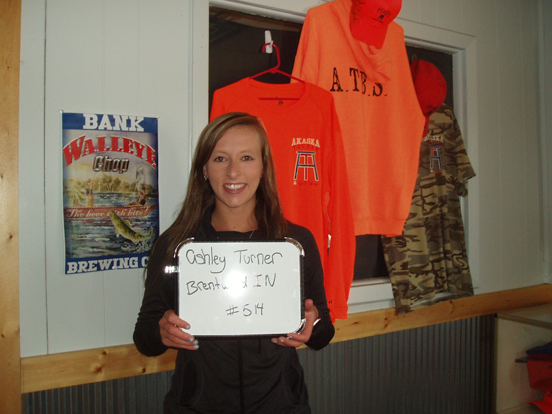 Tasha Grismer of Bowdle drew the winner of the weekly South Dakota Walleye Classic Festival gun drawing at the Akaska Tavern & Bait Shop.      The winner is:    Ashley Turner    Brentwood, IN      Ashley wins:    Winchester XPR    Rifle      Bill Waeckerle    SDWCF