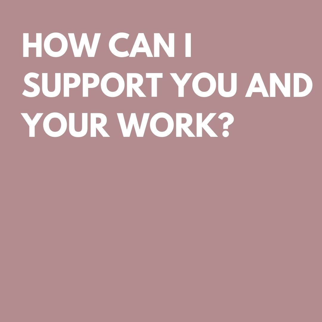 - I am so happy that you find my work purposeful! The simplest way to support my work is through a cash donation or through purchasing the Resilience Deck. If you are unable to contribute a monetary donation, a simple like or story share is a great way to showcase my work and show your support.