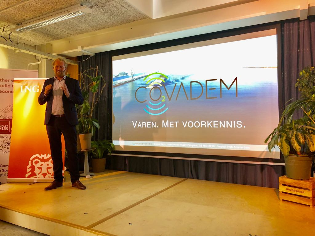 Pitch CoVadem tijdens Investment Ready - Demoday 2018