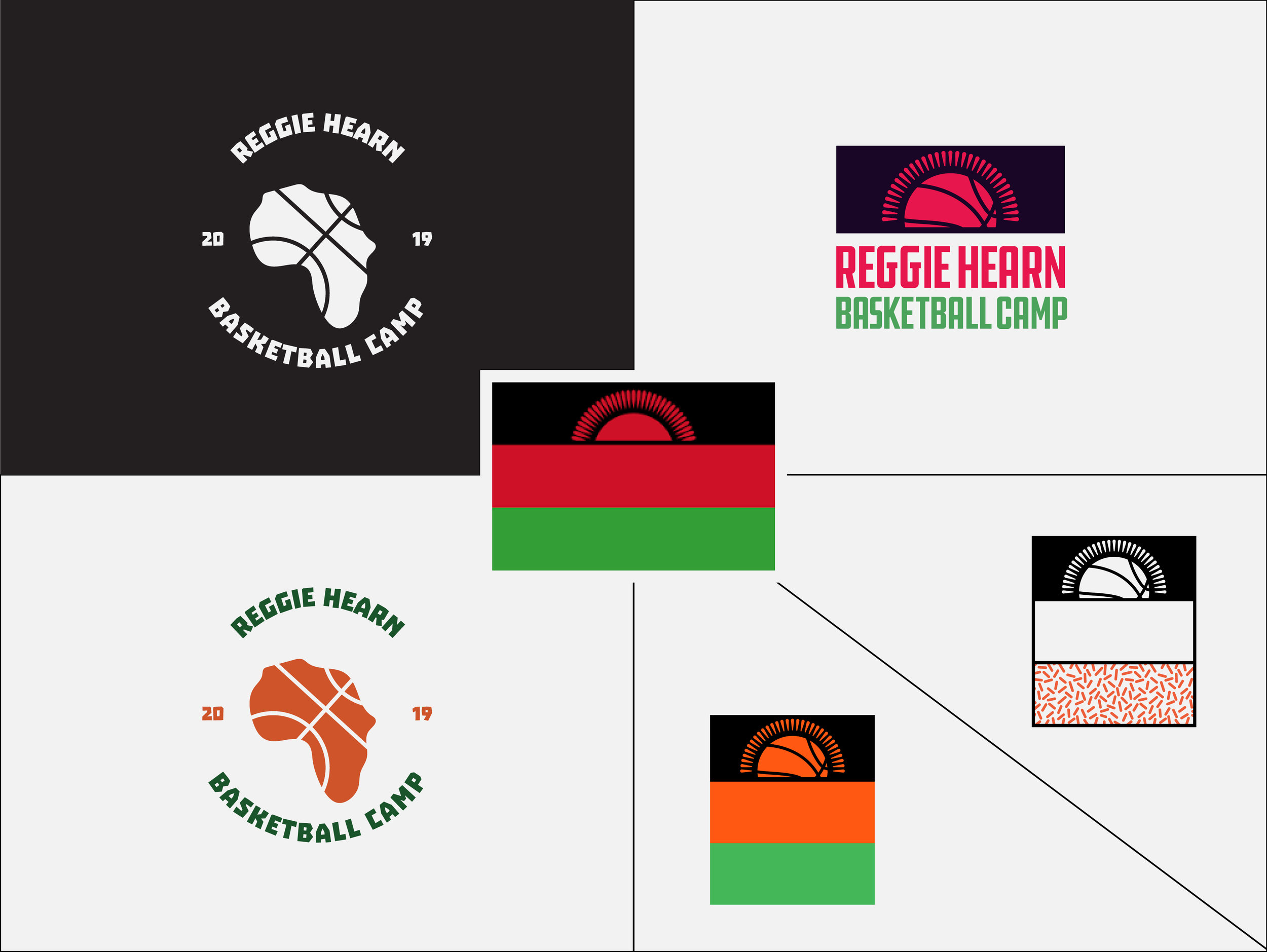 Malawi flag in the center. Exploring approaches for a primary mark.