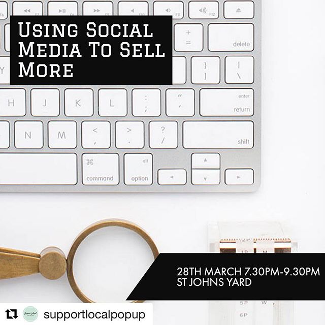 #Repost @supportlocalpopup with @get_repost ・・・ Introducing our brand new workshop: Using Social Media to sell more! We're not talking about a cold sell here guys, we're talking tips and tricks to get people buying into your brand, getting your products seen and ultimately selling more. Spaces are limited to grab your tickets now via the link in our bio @saintjohnsyard @socialtn9 . . . . #supportlocalpopup #workshop #socialmedia #socialmediasupport #tunbridgewells #royaltunbridgewells #kent #socialmediamarketing #seo #searchengineoptimization #searchenginemarketing #tunbridgewellsmums #tunbridgewellsevents #tunbridgewellslife #royaltunbridgewells #tonbridge #tonbridgelife #tonbridgemums