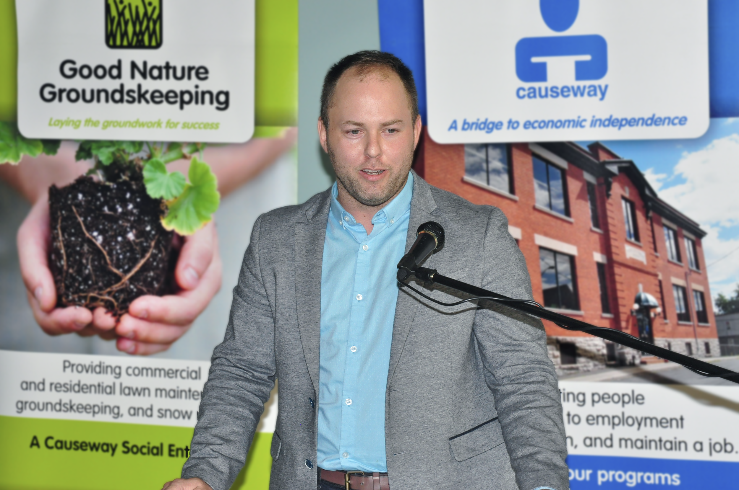 Doug Pawson during the launch of the Causeway Community Finance Fund - November 2016