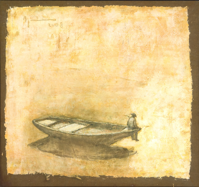 De la serie Los ritos del silencio (Form the series Rites of Silence), 2008. Oil on canvas 40 1/2 x 39 in.