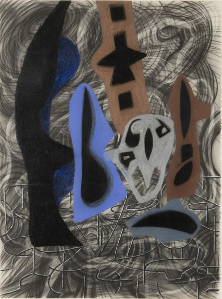 Black Drawing (Still Life), 1999. Crayon on paper. 30 x 22 1/4 in.