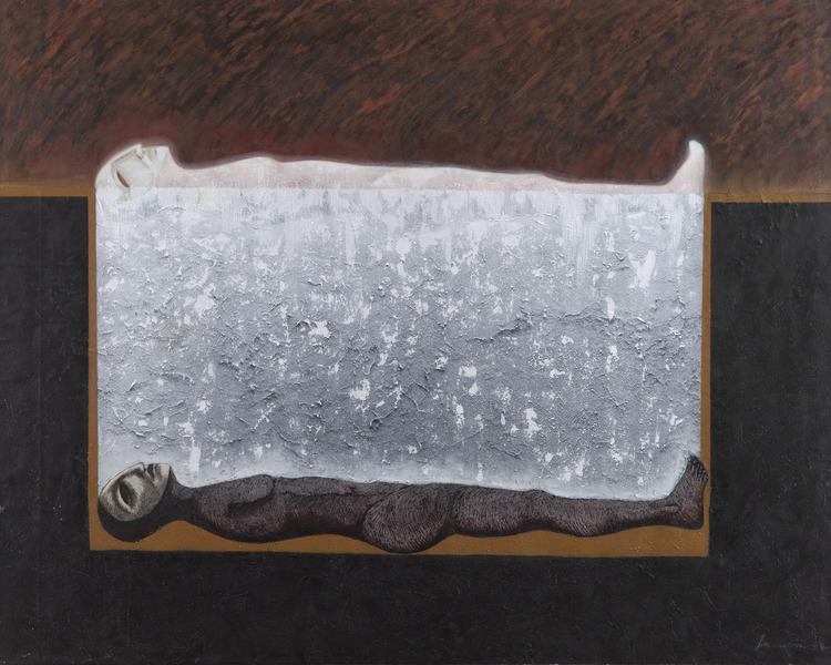 Oscar Rodríguez Lasseria, Inframundo (Infraworld), 2009. Mixed media on canvas, 47 1/4 x 59 in.