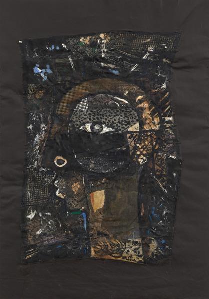 "Eduardo Roca Salazar ""Choco"", Te estoy mirando (I'm Watching You), 2011. Mixed media on canvas, 45 3/4 x 31 3/4 in."
