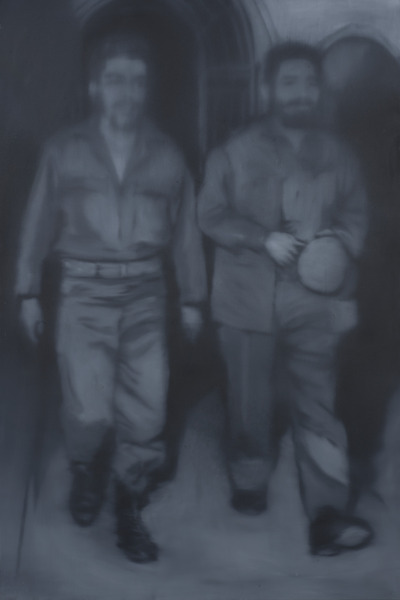 José Ángel Toirac, Sin título (Che y Fidel), de la serie Gris (Untitled (Che and Fidel), from the series Gray), 2003. Oil on canvas, 70 1/2 x 46 3/4 in.