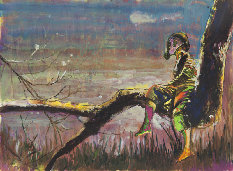 Armando Mariño, What About the Future, 2012. Oil on paper, 22 x 30 1/4 in.