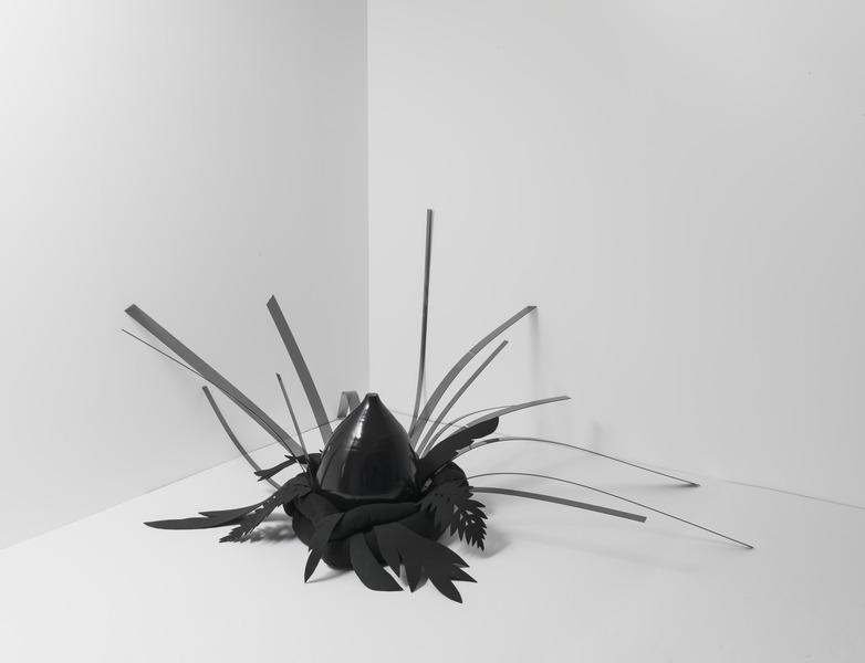 Elio Rodríguez, Elegguá, 2010. Stuffed fabric, ceramic, plexiglass and foam, 36 x 60 x 42 in.
