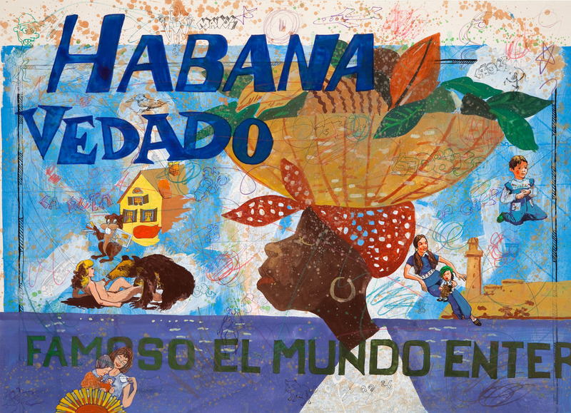 Douglas Pérez, Vedado 16, de la serie Vedado, 2009. Gesso, gouache, marker and colored pencil on paper, 19 1/2 x 27 1/2 in.