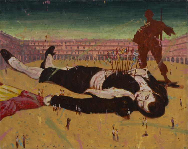 La muerte de Gulliver (Death of Gulliver), 2012. Acrylic on canvas, 29 x 36 in.