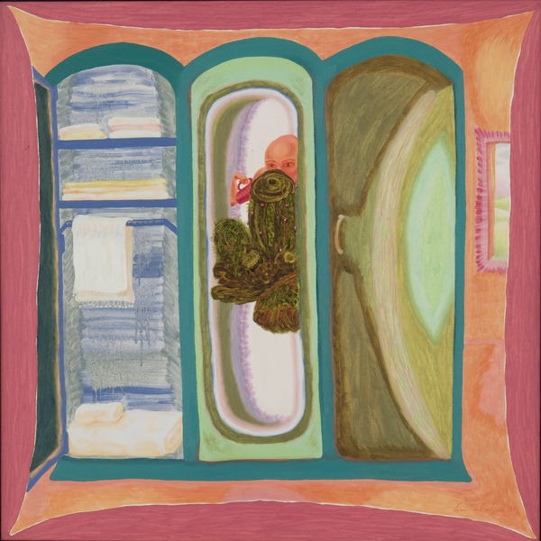 Cactus, 1998. Acrylic on canvas, 30 x 30 in.