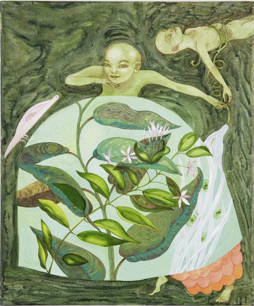 De vuelta la cigarra (The Return of the Cicada), 2009. Acrylic on canvas, 24 x 20 in.