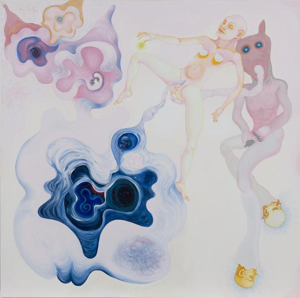 Untitled, 2009. Acrylic on canvas, 36 x 36 in.