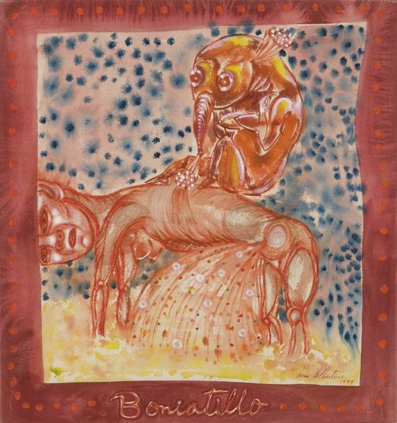 Majarete, 1998. Acrylic on canvas, 25 x 26 1/2 in.