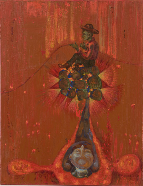Reflejo hecho carbón (Reflex Transformed in Charcoal), 2009. Acrylic on canvas, 28 x 22 in.