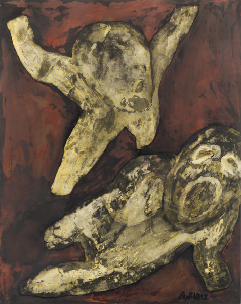 Apariciones (Apparitions), ca. 1995. Oil and pastel on paper, 28 3/4 x 23 in.
