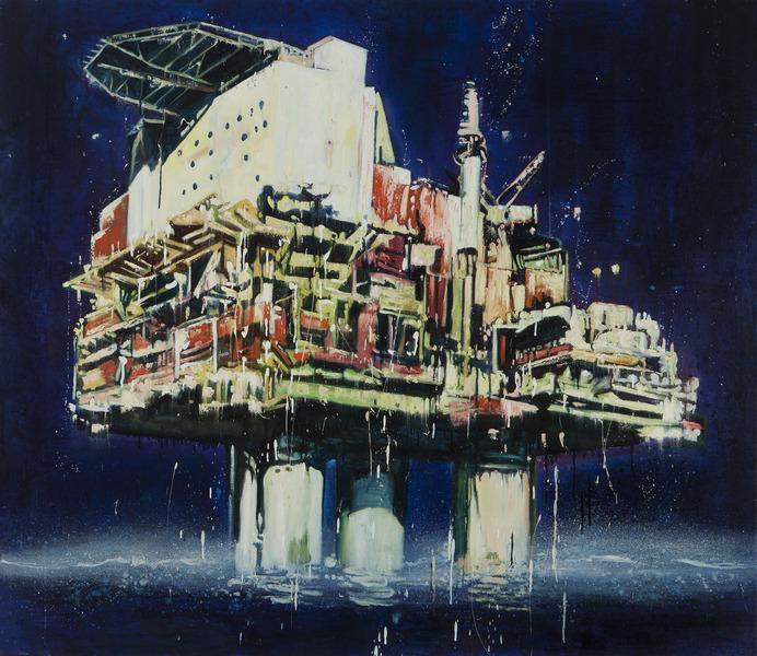Plataforma II (Platform II), 2009. Oil on canvas, 57 x 66 in.