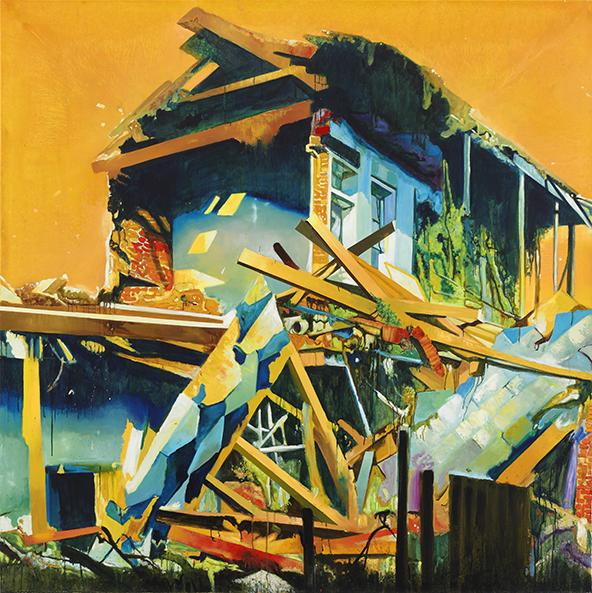 House, 2007. Oil on linen, 78 1/2 x 78 1/2 in.