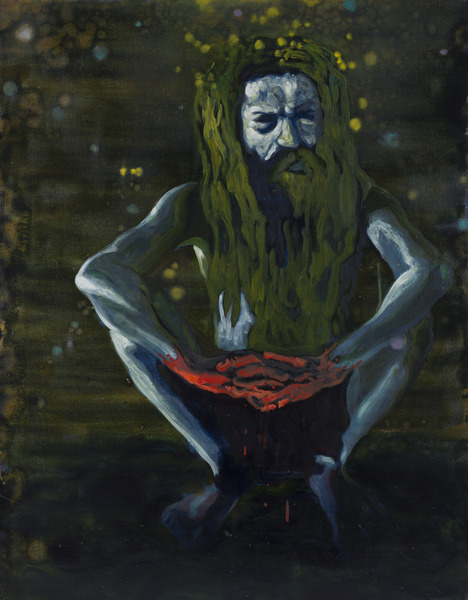 Holy Man, 2012. Oil on canvas, 39 x 31 in.
