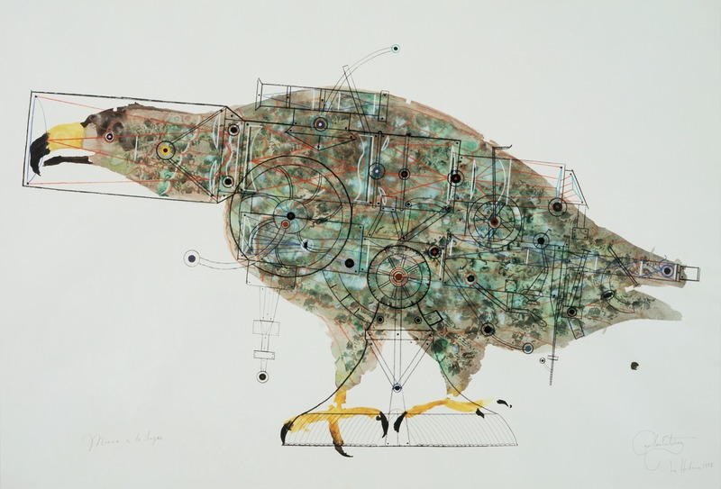 Mirar a lo lejos (Look Far Away), 1998. Watercolor and pencil on paper 29 1/2 x 43 1/2 in.