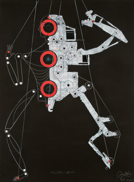 Metamorfosis (Metamorphosis), 2001. Colored pencil and acrylic on paper. 42 x 30 in.