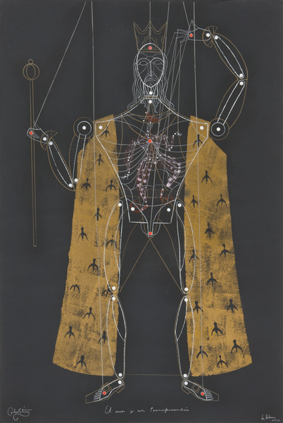 El ser y su transparencia (The Soul and its Transparency), 2002. Colored pencil and acrylic on paper. 44 x 30 in.