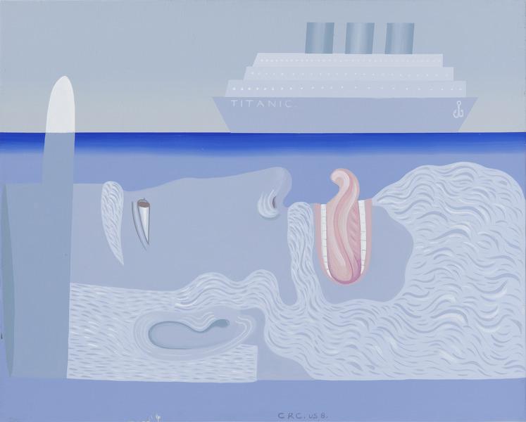 Esperando el Titantic (Waiting for the Titanic), 2008. Acrylic on canvas, 16 x 20 in.